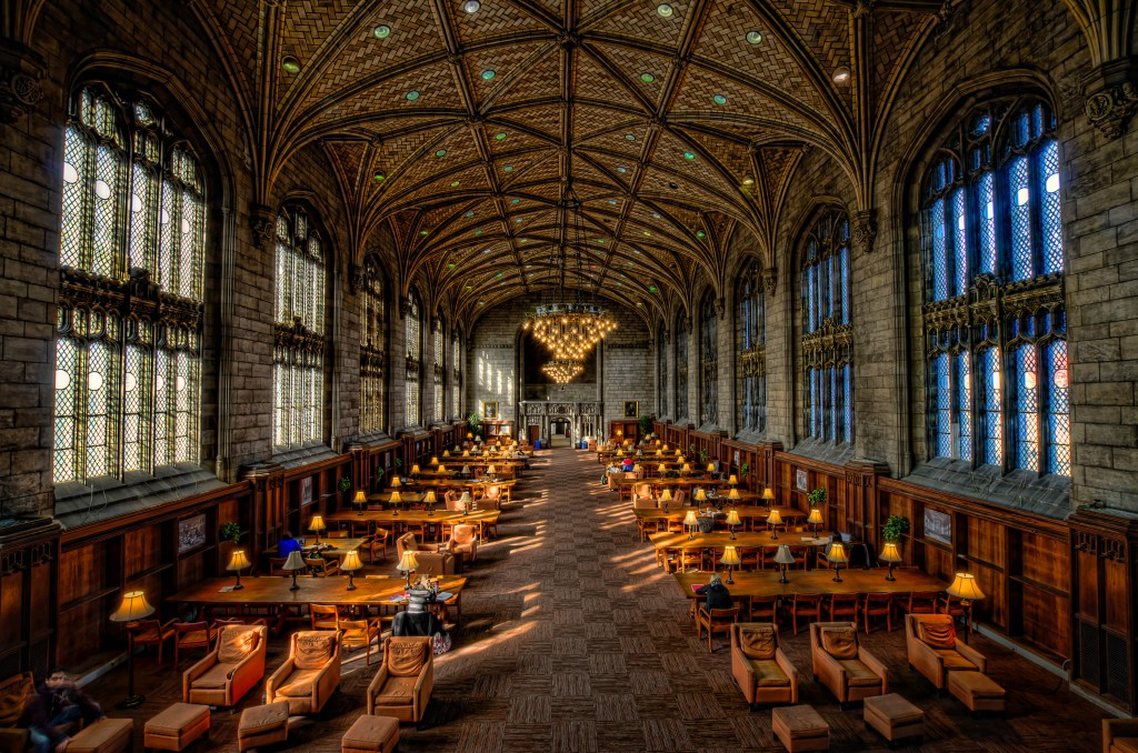 Interior of Harper Memorial Library at University of Chicago by Rick Seidel