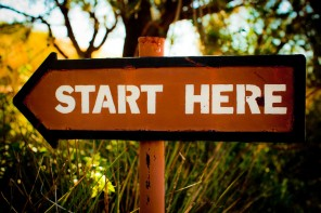 start here sign