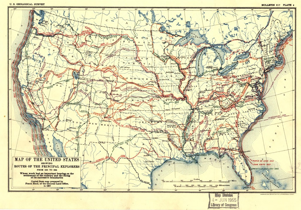 United_States_exploration_routes_1501-1844
