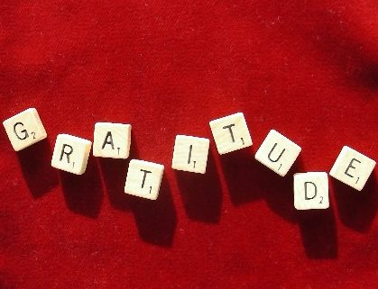 gratitude scrabble tiles